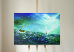 Focus onto Jesus on canvas by jtmuses