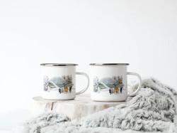 Retro Enamel Mugs