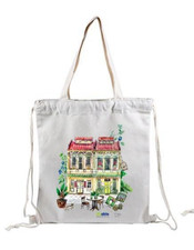 cotton drawstring backpacks at Jewel