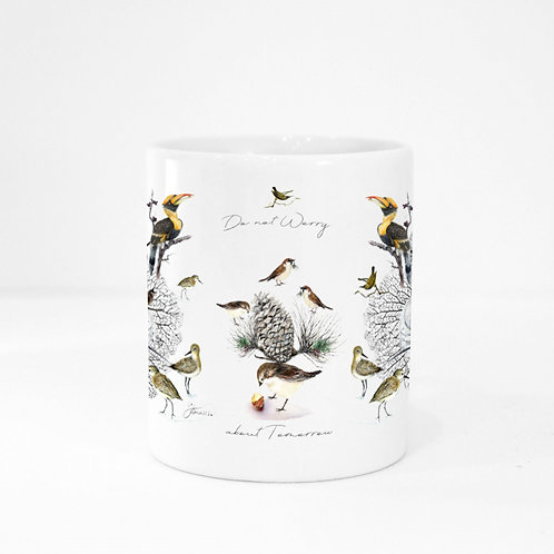 Porcelain colour Mug-The Wings Collection-with Bible verse