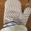 silicone striped oven mitt