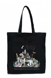 black cotton tote bags