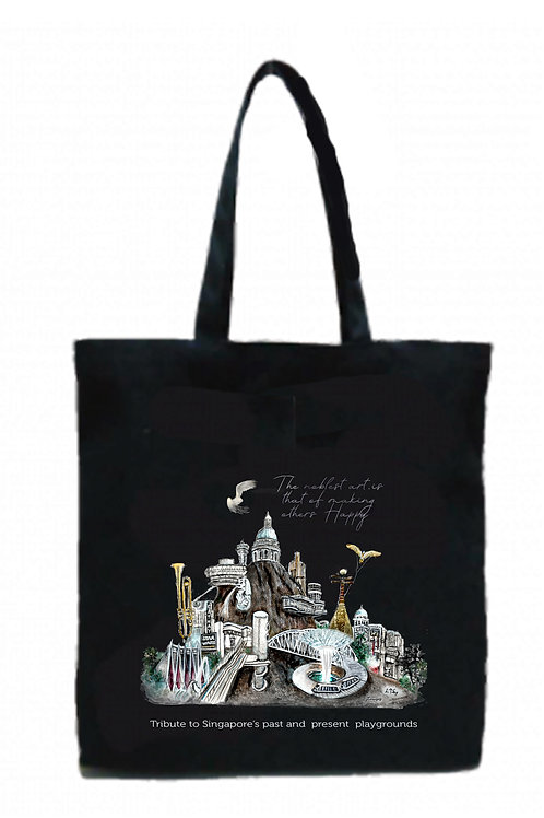 black cotton tote bags