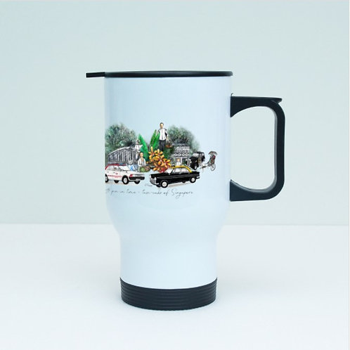 TMP- Travel Tumbler with sip lid (stainless steel)-taxis of sg