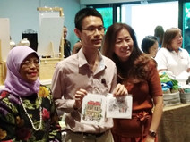 PRESIDENT HALIMAH GRACES OUR BOOTH AT I AM ABLE LAUNCH