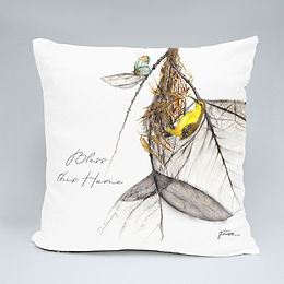 40 x 40 cm throw cushion and cover - The Wings Collection_ sunbird