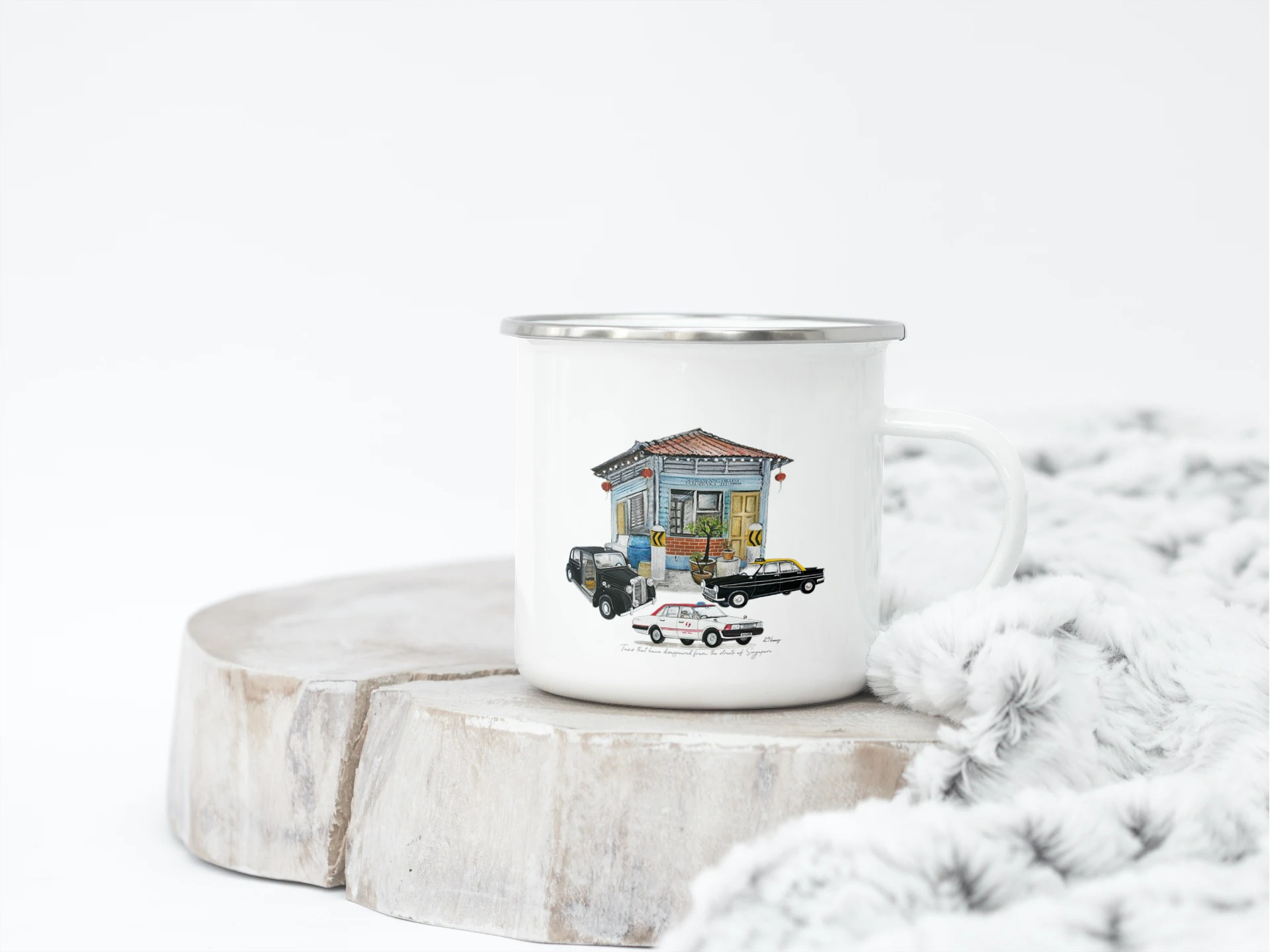 enamel mug-taxis of sg