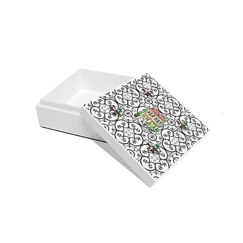 Trinket box, shophouse on Peranakan tiles