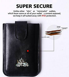 Anti RFID Leather Card Holder - 8 cards