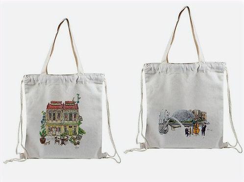 cotton drawstring backpacks