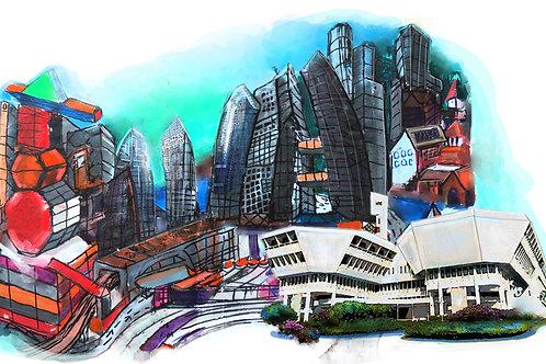 Future Cityscape by Douglas