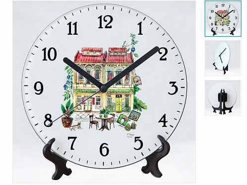 TMP Tempered glass clock-shophouse