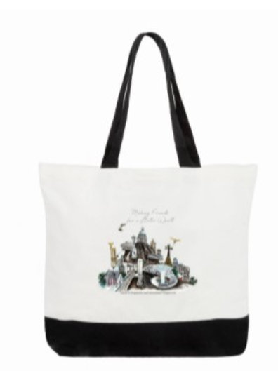 Two-Tone Deluxe Classic Cotton Tote Bags