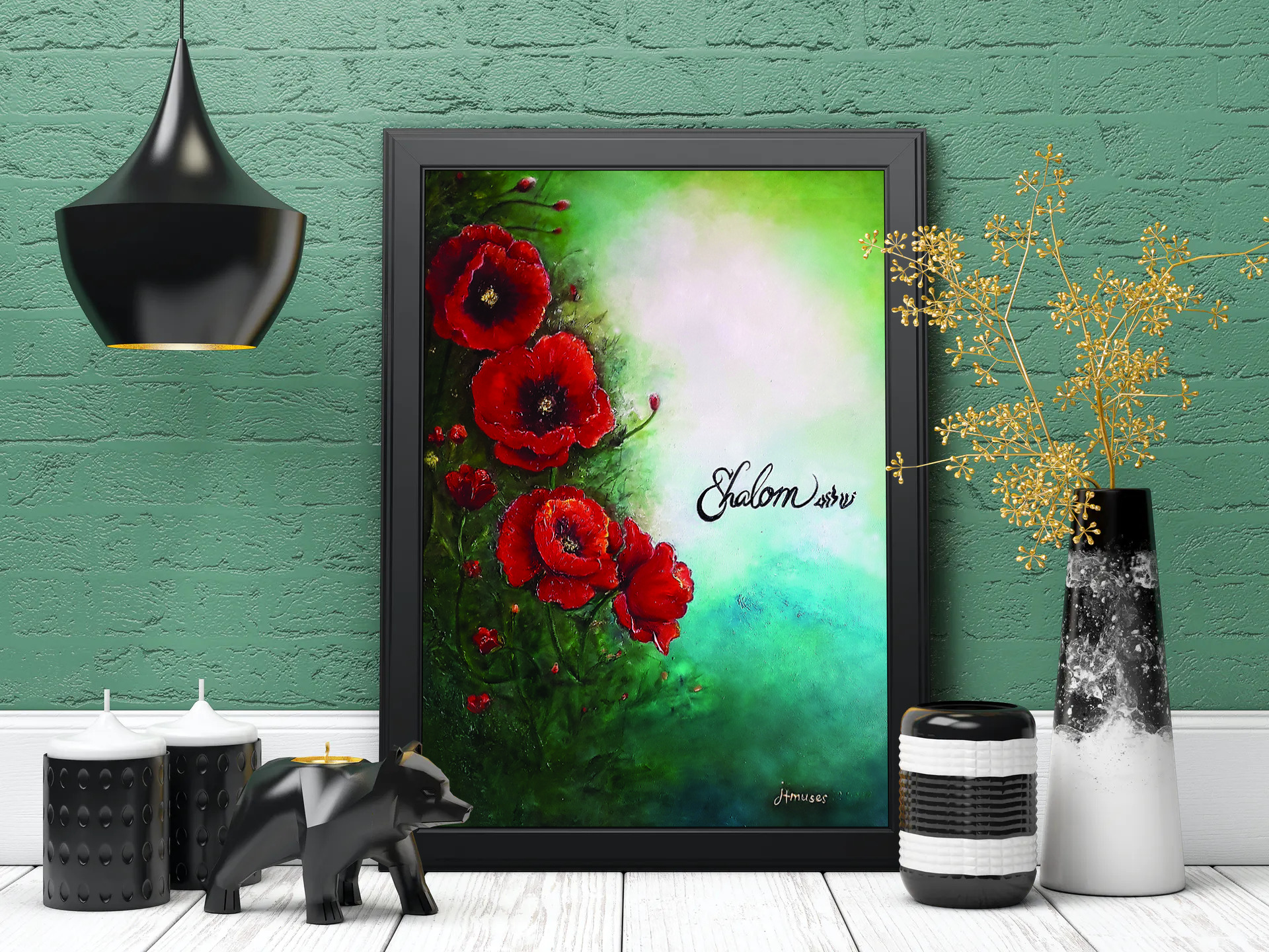 Shalom-poppies by jtmuses