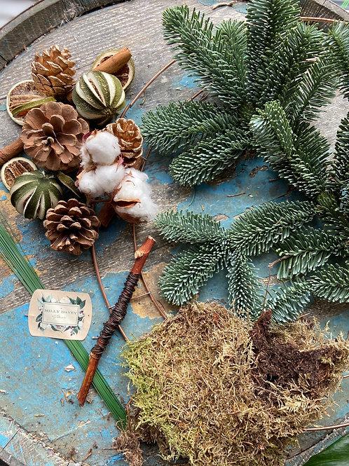 Snowy Nights DIY Wreath Kit