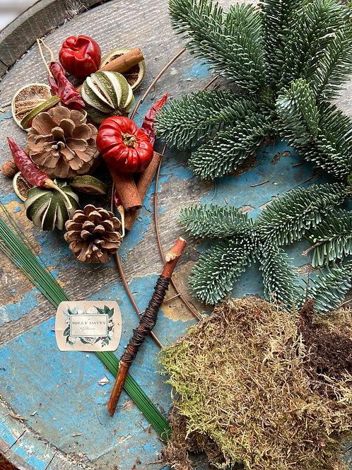 Classic Christmas DIY Wreath Kit