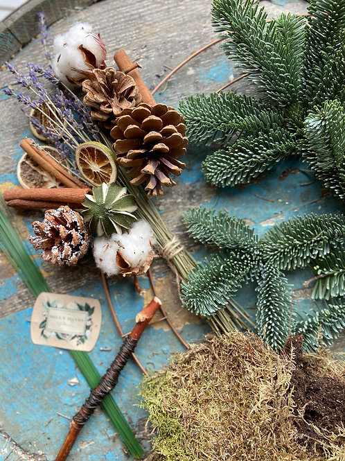 Crisp Lavender DIY Wreath Kit