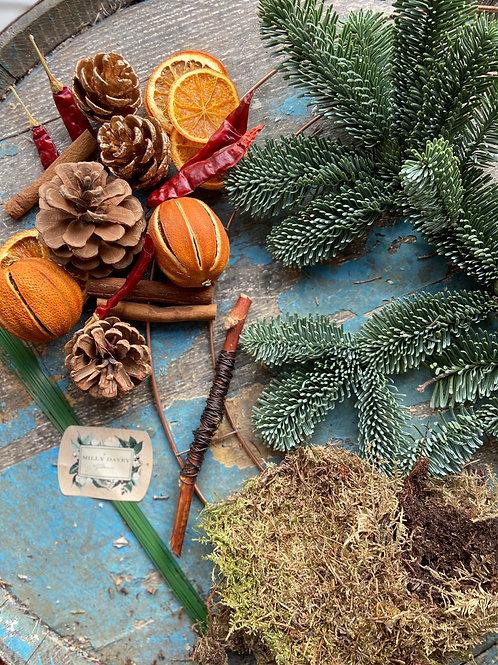 Winter Fire DIY Wreath Kit