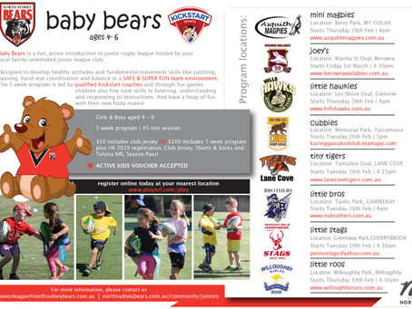 New Baby Bears Program for ages 4 - 6
