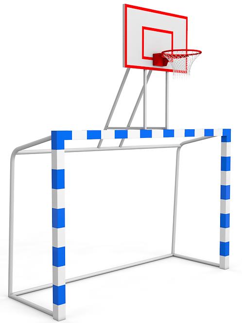 Баскетбольная стойка с воротами для дворового и минифутбола