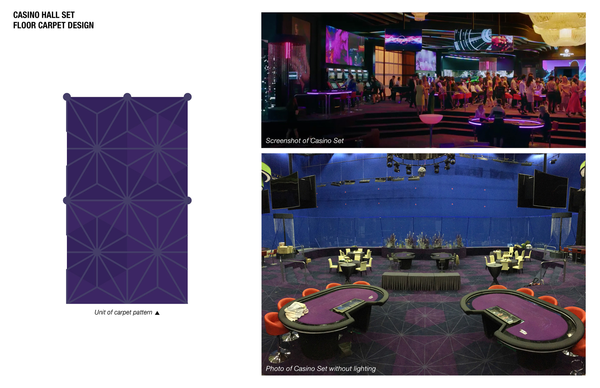 Carpet Design for Casino Set