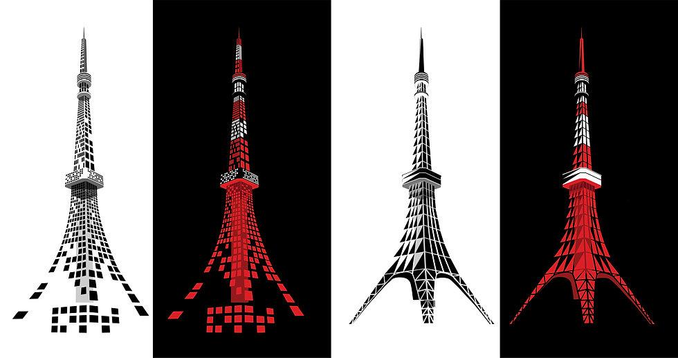 Tokyo Tower Pixel Design