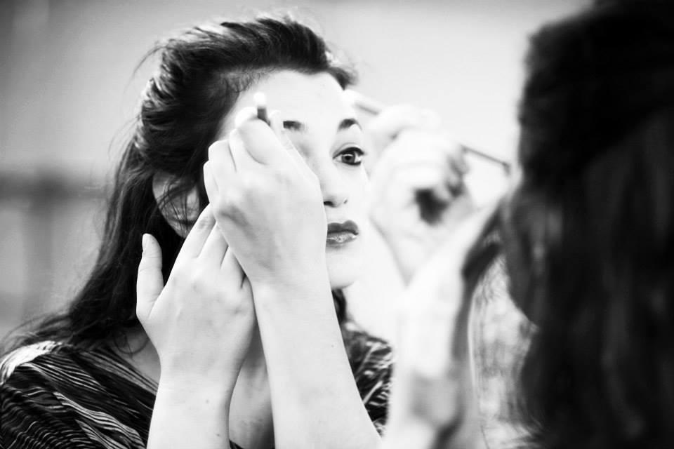 An Actor Prepares...her eye makeup