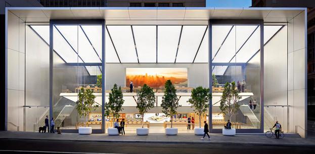 Apple Store, Union Square, San Francisco, Dynamic Visual Merchandising and Digital Screens