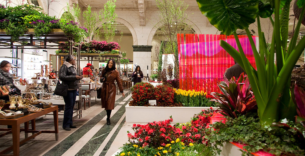 Macy's Flower Show, in-store Dynamic Visual Merchandising