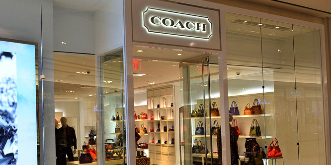 Coach Store, visual merchandising, product.