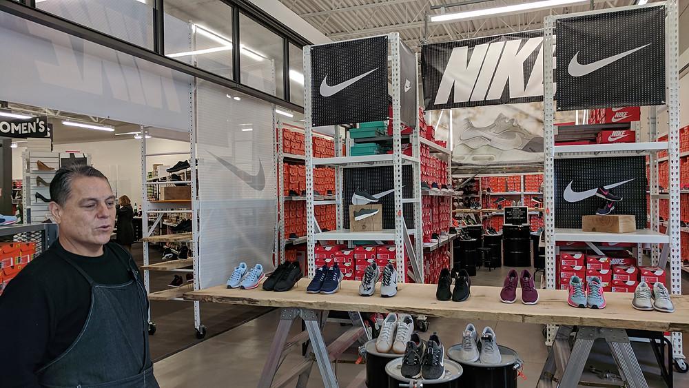 Nike pop-up shop at DSW.
