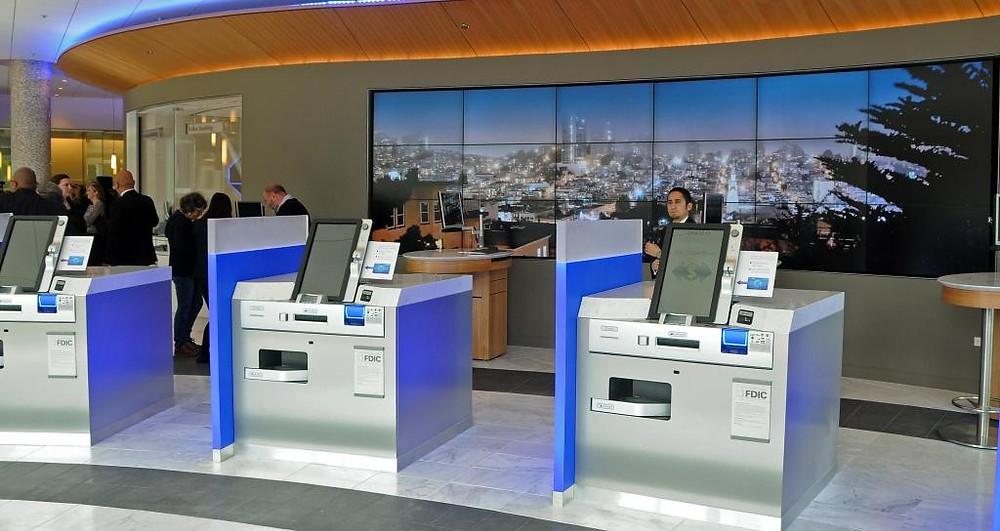 JP Morgan Chase Bank, Digital Screen, Dynamic Visual Merchandising