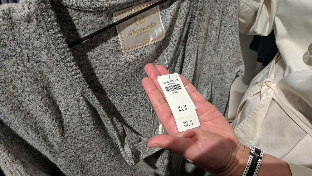 Abercrombie & Fitch product and pricing.