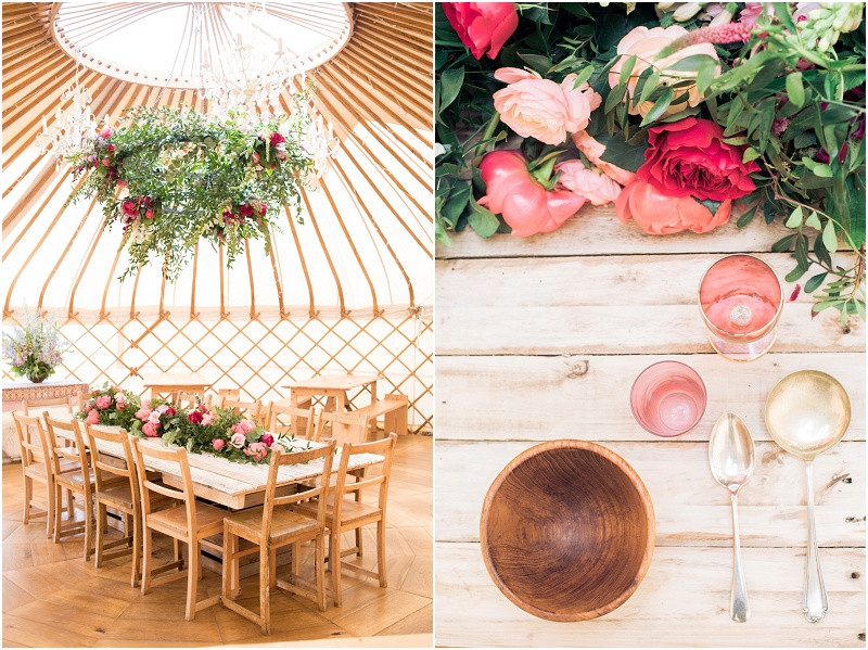 Wedding yurts UK rustic wedding