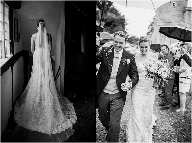 A Cotswolds marquee wedding with pink roses and elegant styling