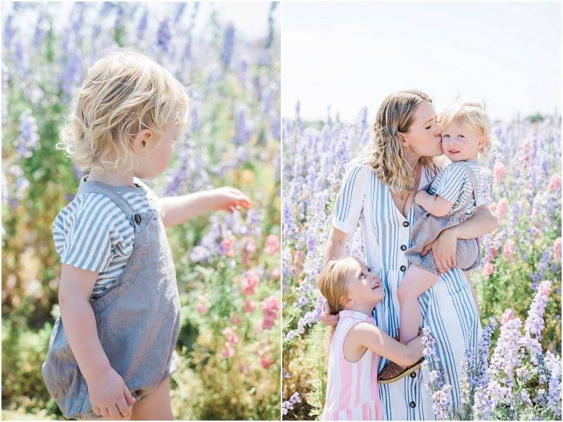 Confetti fields photo shoot with Cotswolds family photographer