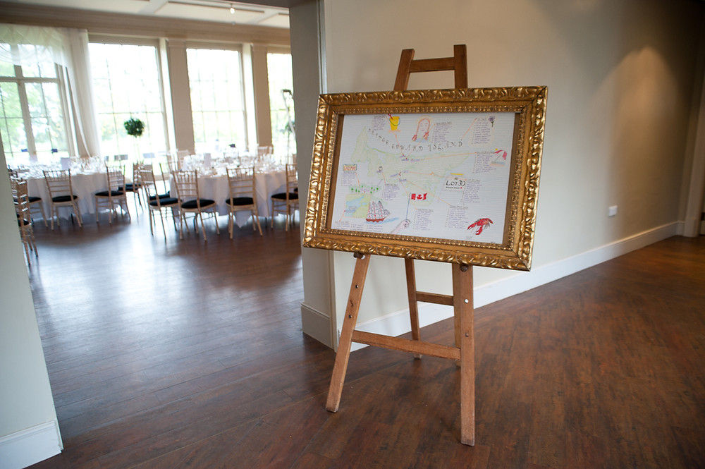 stubton hall wedding reception meal table plan
