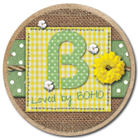 Boho-wedding badge