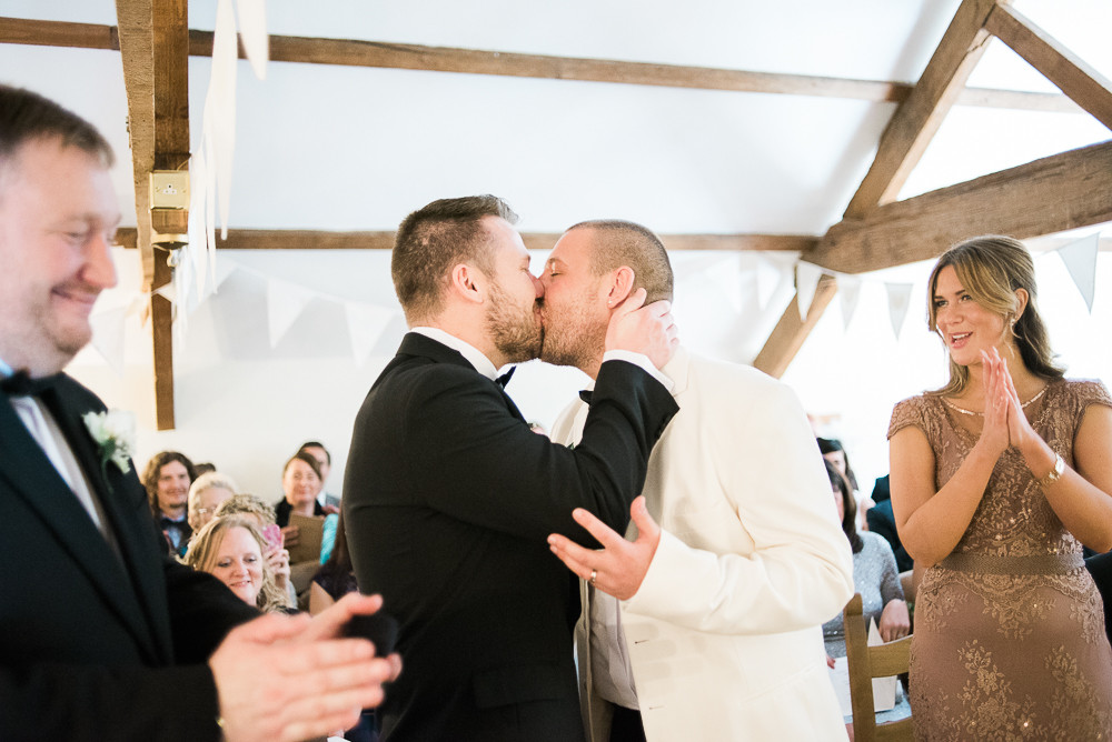 Gay wedding, The Outbuildings, Anglesey