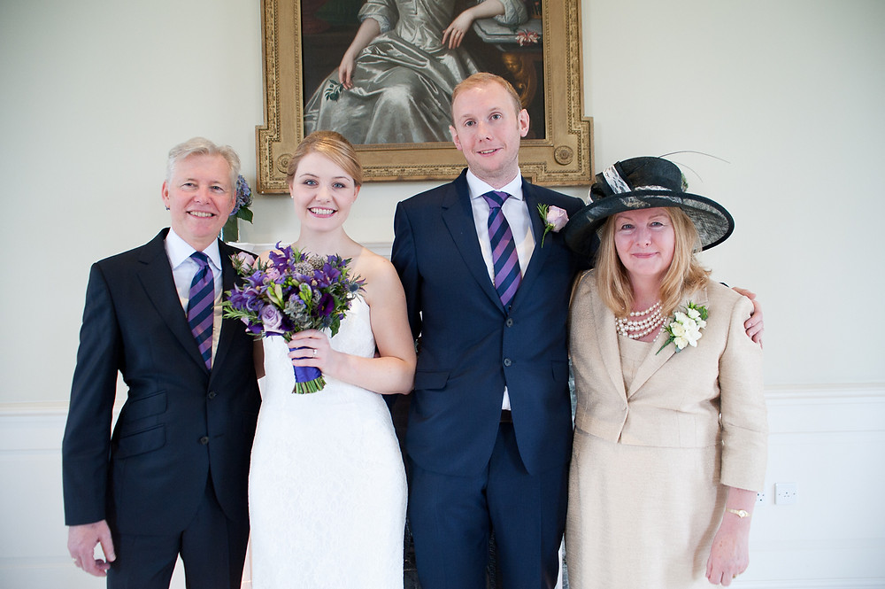 stubton hall wedding family portrait