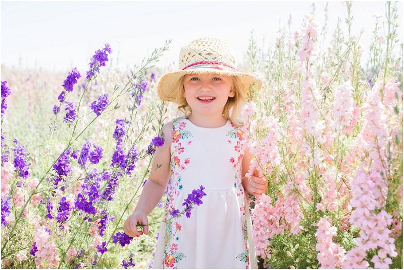 Confetti flower fields photo shoots children's photos in Cotswolds