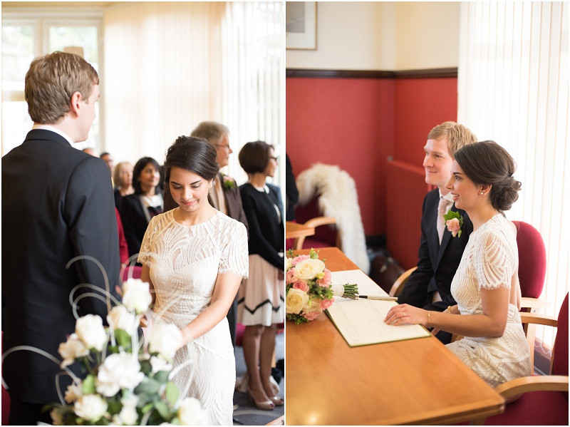 Winter wedding at Malvern Registry Office