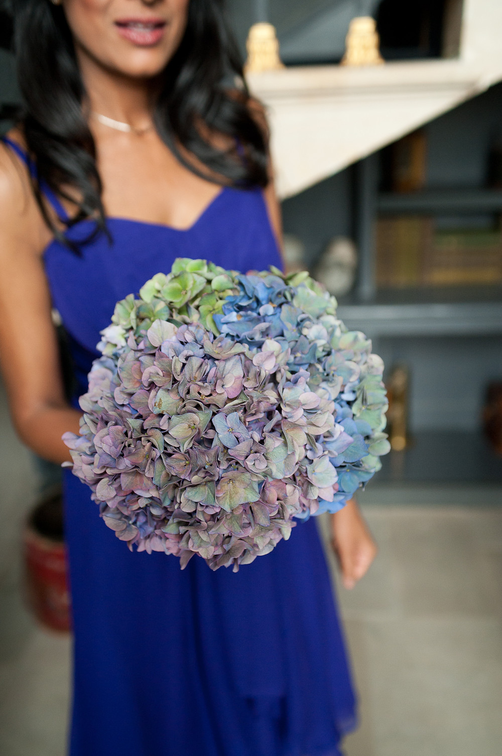 stubton hall wedding blue bouquet