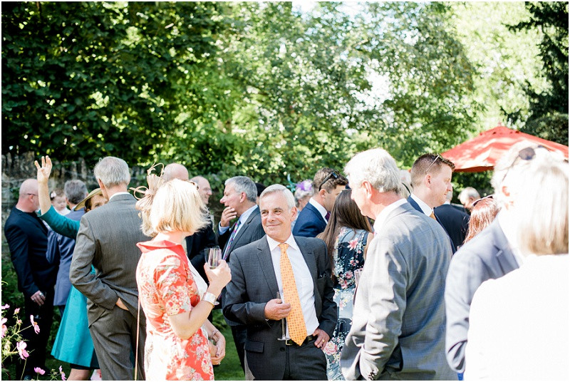 Cotswolds marquee wedding Oxford guests in garden