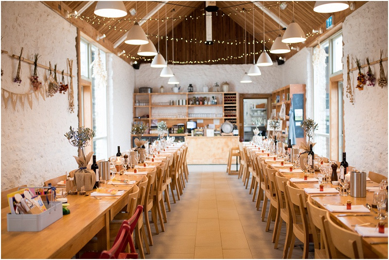 Boho wedding at River Cottage by with natural herbs and homemade sloe gin