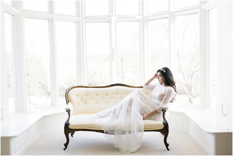 Cotswolds marquee wedding venue white simplicity fine art bride in lace gown