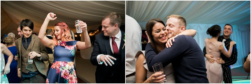 relaxed guest photos at boho Autumn marquee wedding HiIlles House Cotswolds