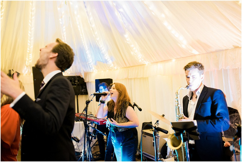 Cotswolds marquee wedding Oxford band