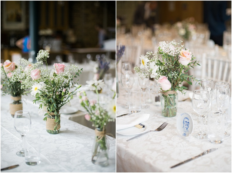 Natural flowers at London wedding The House Mill Bromley by Bow