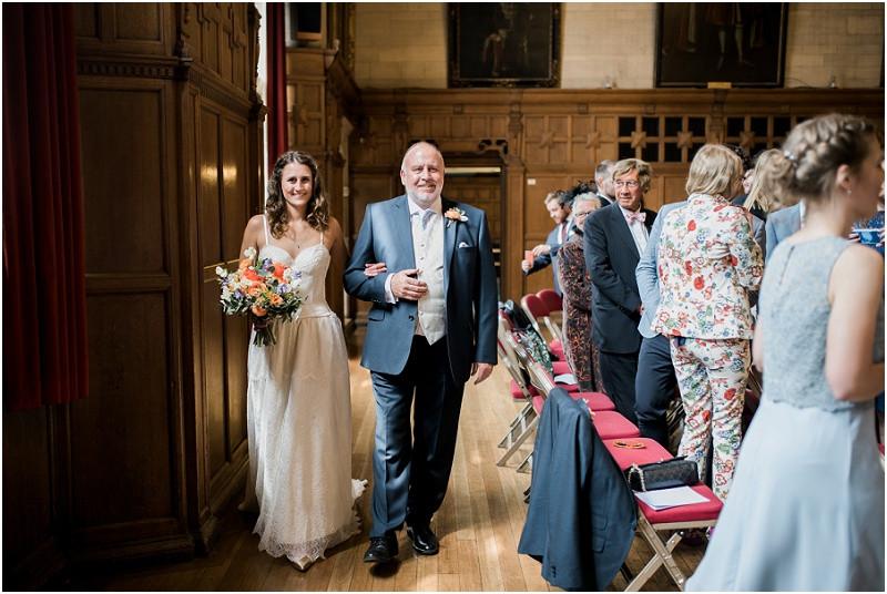 Oxford Town hall laid back wedding
